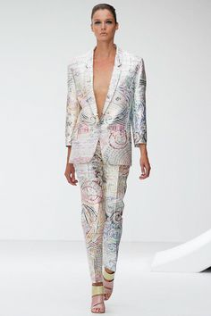Mary Katrantzou Spring Summer 2013 Ready To Wear Collection – London Fashion Week Couture Fashion, Runway Fashion, Fashion Show, Luxury Fashion, Womens Fashion, Fashion Art, Mary Katrantzou, London Fashion Weeks, Greek Fashion