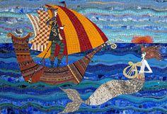 A high priestess in mosaic art - Irinia Charny.  Siren's Song