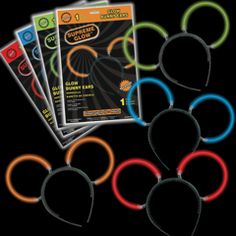 glow Mickey ears- attach glow braclets to headband.  each one (including two braclets) only costs 0.89, no minimum required