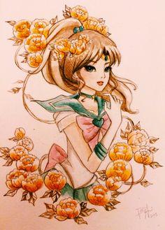amaizing drawing of Sailor Jupiter from Sailor Moon