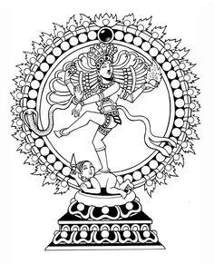 Nataraja (Dancing Shiva) by on DeviantArt Nataraja, Shiva Shakti, Pencil Art Drawings, Hindu Art, Ancient Art, Wood Print, Tattoo Inspiration, Lord Shiva, Coloring Books
