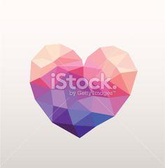 Geometric Heart Royalty Free Stock Vector Art Illustration