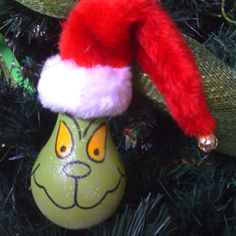 Grinch lightbulb ornament Christmas Stuff, Christmas Holidays, Christmas Ideas, Christmas Crafts, Xmas, Christmas Ornaments, Light Bulb Crafts, Holiday Treats, Holiday Decor