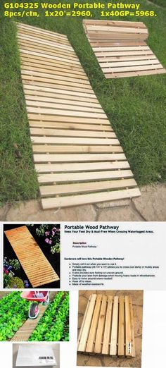 pallet walkway for wet spots in yard. Visit and Like our Facebook Page https://www.facebook.com/pages/Rustic-Farmhouse-Decor/636679889706127