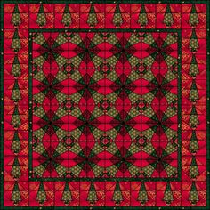 The Pines Quilt with free templates on Quilters' Cache at http://www.quilterscache.com/T/ThePinesBlock.html