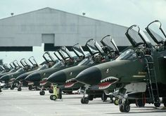 These are ones I worked on back in the late at Clark AB. One of my favorite jets. Fighter Jets at Clark Air Force Base, Philippines Fighter Pilot, Fighter Aircraft, Fighter Jets, Us Military Aircraft, Military Jets, Photo Avion, F4 Phantom, Cold Mountain, Jet Plane