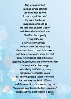 Written for a friend of mine who lost her mother:)  Hope others can relate.  Blessings! V-The Son Is Coming (Large).jpg