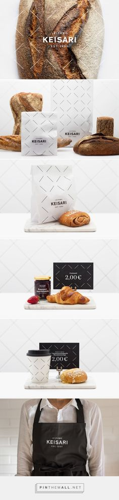 Keisari Bakery (Leipomo Keisari) wanted to renew their visual identity and to communicate the change of the old name Kakku & Leipä Keisari (translation: Cake & Bread Cesar). Bakery Branding, Bakery Packaging, Brand Packaging, Brand Identity Design, Corporate Design, Branding Design, Logo Design, Logo Doce, Food Graphic Design