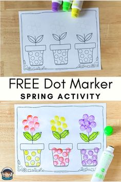 Dot Marker Printables Free Spring