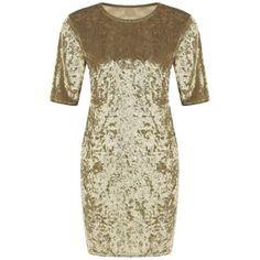 Round Neck Velvet Mini Dress