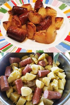 Cookbook Recipes, Cooking Recipes, Sausage, Pork, Potatoes, Chicken, Meat, Vegetables, Ethnic Recipes