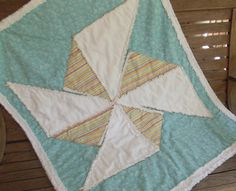 Playful Pinwheel Child's Quilt by marylandquilter on Etsy, $95.00