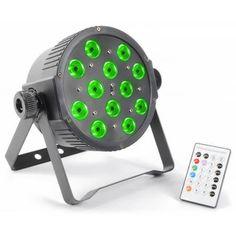 beamZ LED FLATPAR 12x 3W RGB LEDs DMX IR – SoundWarehouse