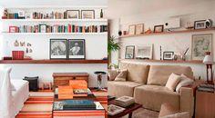 nichos e prateleiras em cima sofá - Pesquisa Google