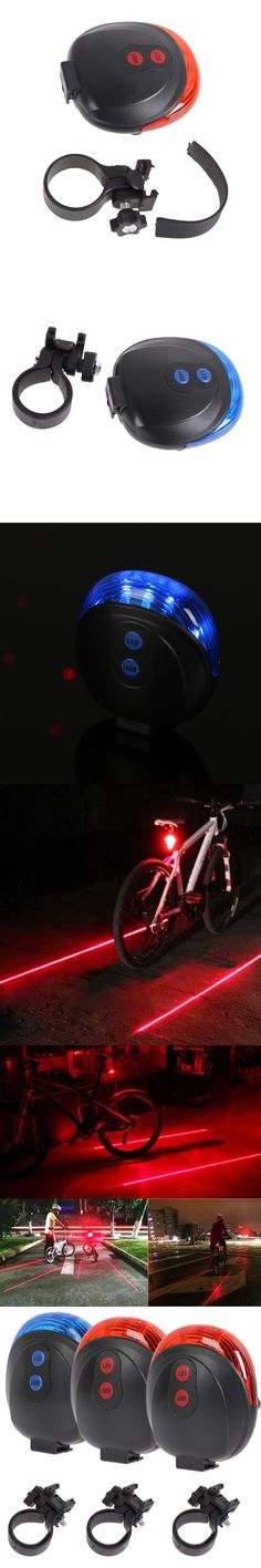 Cycling Bike Light Rearlight Taillight Safety Warning 5LED 2 Laser Flashing Lamp Light Bicycle Accessories Rear Light Tail Light