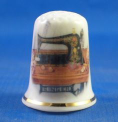 FINE-PORCELAIN-CHINA-THIMBLE-SINGER-SEWING-TABLE-FREE-GIFT-BOX