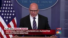 MORON National Security Adviser McMaster: Trump's Revelations to Russians 'Wholly Appropriate' - NBC News