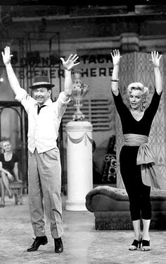 "goldenageestate: ""   Donald O'Connor & Marilyn Monroe ~ There's No Business Like Show Business , 1954 """