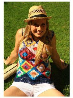 Crochet Granny Square Top: