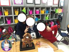 Teacher brought in Halloween Gingerbread houses for them to complete as a fun reward during Halloween. They would LOVE doing this!