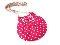 Lovely Kids Bag Pink polka dot