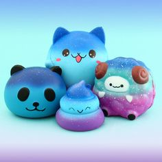 🌌 These beautiful galaxy-inspired squishies let you admire the magnificent stars at night from up close! ⭐️✨