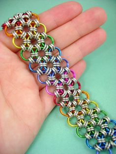 Blackmaille Japanese Lace Chainmaille Rainbow by xblackmaille, $67.00