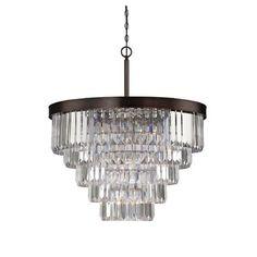 Savoy House Tierney 9 Light Crystal Chandelier & Reviews   Wayfair