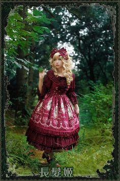 【Infanta.婴梵塔】 Lolita原创印花*Tangled*长发姬*JSK-淘宝网