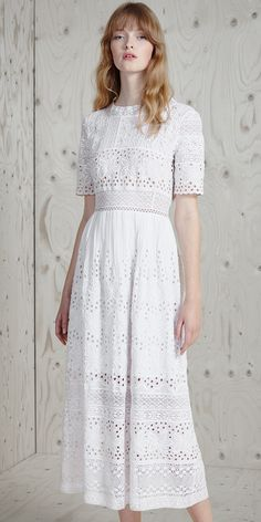 French connection white dress with flowers
