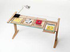 Rectangular writing desk with drawers LEO by Valsecchi 1918 design Nicola De Ponti, Laudani