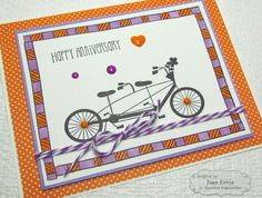 Doodle Borders Anniversary Card by Joan Ervin #Cardmaking, #CAS, #Anniversary