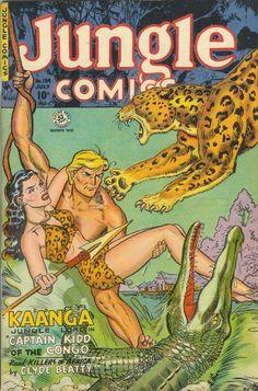 COMIC jungle comics 139 #comic #cover #art