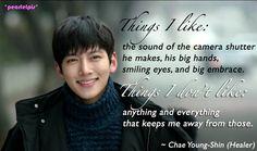 Healer quotes: Ji Chang Wook as Seo Jung Hoo; Park Min Young as Chae Young Shin (ep20)