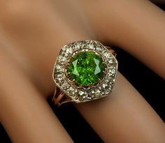 Rare Almost 3 Carat Russian Demantoid and by RomanovRussiacom