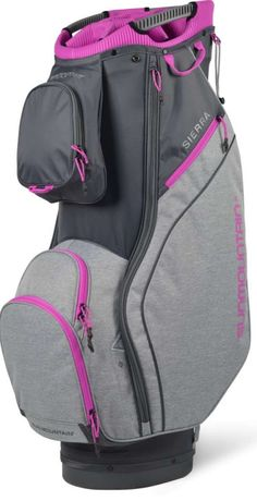 Check out what Loris Golf Shoppe has for your days on and off the golf course! Sun Mountain Ladies 2021 Sierra Golf Cart Bags - Gunmetal/Charcoal/Fuschia