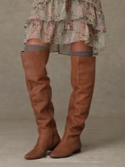 IMG_3723 Leather skirt and boots | Brown leather love | Pinterest ...
