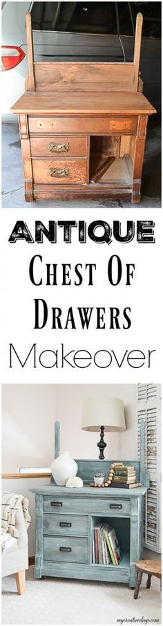 Finding an antique chest of drawers that is in need of a makeover is like finding the golden ticket! This antique chest of drawers makeover was easy to do with some paint and black wax. Click over to see how to do it!