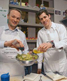 Sergei Gonchar and Evgeni Malkin