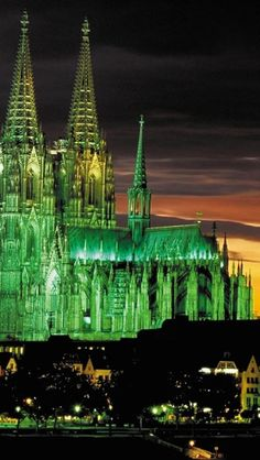 majestic, cologne, cathedral, night, lights, Architecture - Germany