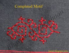 Kasuti (traditional Indian embroidery) Embroidery on Net - Step by Step Tutorial