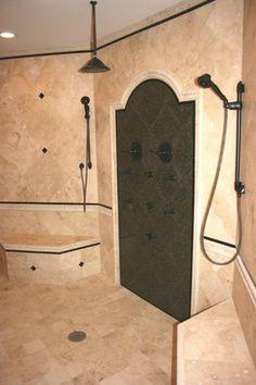 Shower - Design/Builder Waugh Custom Homes Home, Design Remodel, Dream Bathrooms, Custom Homes, House Design, Custom Home Designs, House Layouts, Shower Design, Design Builder
