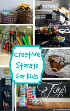 Creative Storage for Kids -- great ideas for all kinds of toy organizing! #spon