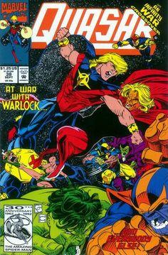 Quasar (Marvel, - Infinity War by Greg Capullo & Harry Candelario Comic Book Superheroes, Marvel Comic Books, Batman Comics, Comic Book Characters, Marvel Characters, Comic Books Art, Comic Art, Book Art, Batman Batman