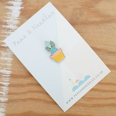 Cactus pin badge