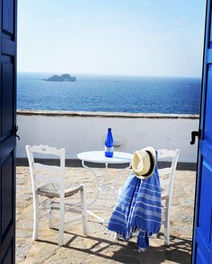 Paros island -A room with a view Ocean Bathroom, Greek Blue, Paros Greece, Paros Island, New Bathroom Ideas, Paradise On Earth, Europe, Greece Travel, Cool Places To Visit