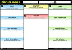 Pitch planner is a Canvas that helps you create pitches that truly meet your audience's needs and generate the outcomes you desire. Pitch Presentation, Business Presentation, Business Model, Business Tips, Sales And Marketing, Business Marketing, Online Marketing, Marching Band Humor, Innovation Strategy