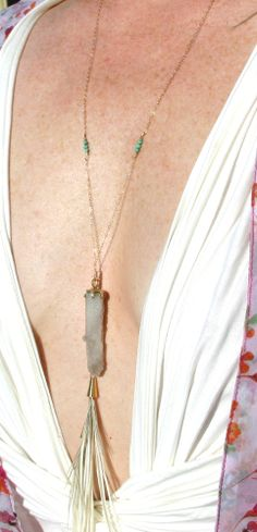 Freeravin - Intentional Spells, $135.00 (http://www.freeravin.com/intentional-spells/) #druzy #crystal #necklace #spells #design #feather #necklace #bohemian #style #gypsy #goddess #freeravin