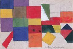 Andrzej Wróblewski - Abstrakcja geometryczna, ok.1948, akwarela, 16.3 x 23.5