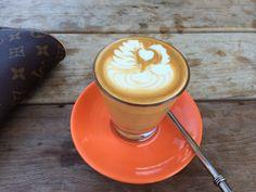 Scarvelli's latte art.